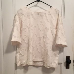 H&M white textured top